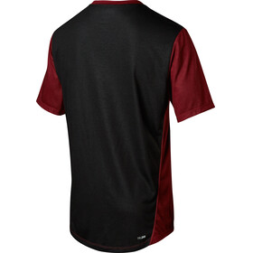 Fox Indicator Mash Camo Short Sleeve Jersey Men dark red
